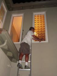 residential stained glass installatins