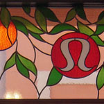 LuLu Lemon Stained Glass Storefront